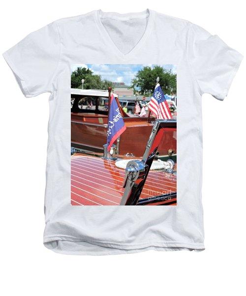 Chris Craft Runabout Men's V-Neck T-Shirt