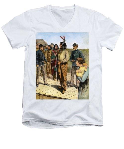 Geronimo 1829-1909.  To License For Professional Use Visit Granger.com Men's V-Neck T-Shirt