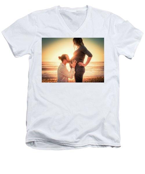 Powell Maternity Men's V-Neck T-Shirt