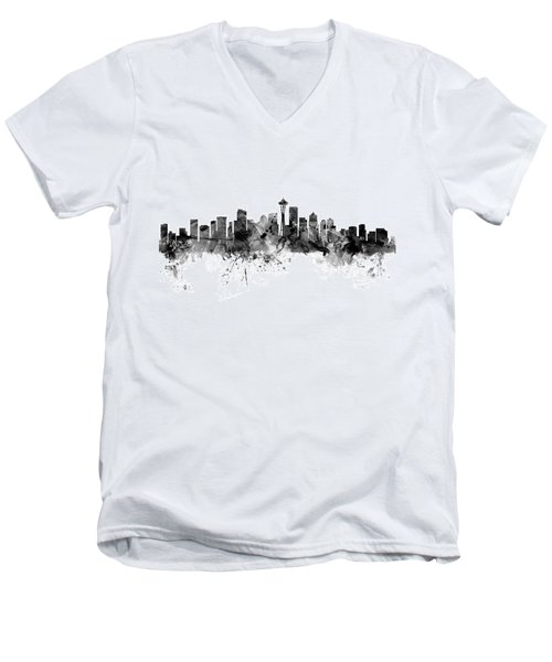 Seattle Washington Skyline Men's V-Neck T-Shirt