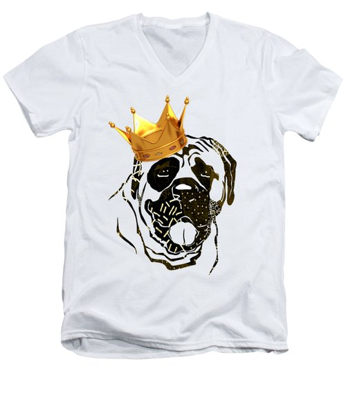Top Dog Collection Men's V-Neck T-Shirt by Marvin Blaine