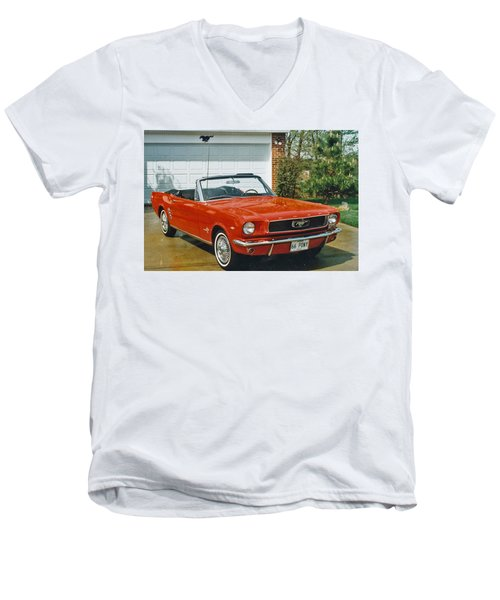 66 Mustang Convertable Men's V-Neck T-Shirt