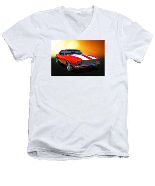 68 Camaro Men's V-Neck T-Shirt by Keith Hawley