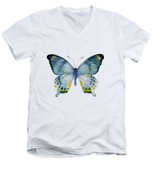 68 Laglaizei Butterfly Men's V-Neck T-Shirt