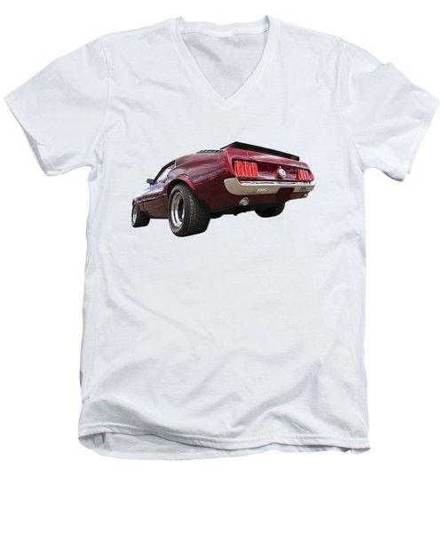'69 Mustang Rear Men's V-Neck T-Shirt