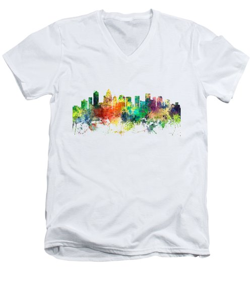 Charlotte Nc Skyline Men's V-Neck T-Shirt