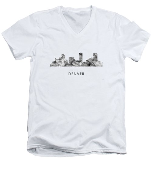 Denver Colorado Skyline Men's V-Neck T-Shirt