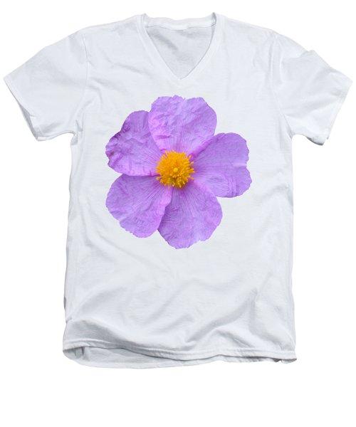 Rockrose Flower Men's V-Neck T-Shirt by George Atsametakis