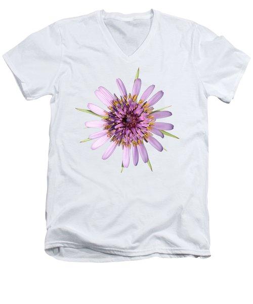 Salsify Flower Men's V-Neck T-Shirt by George Atsametakis