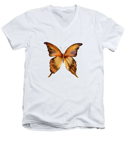 7 Yellow Gorgon Butterfly Men's V-Neck T-Shirt by Amy Kirkpatrick