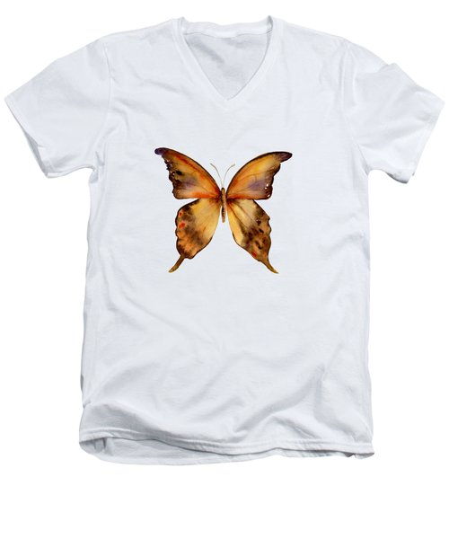 7 Yellow Gorgon Butterfly Men's V-Neck T-Shirt