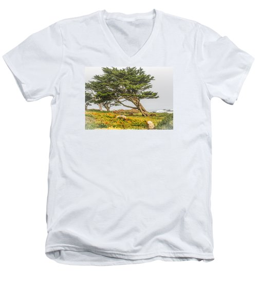 #7803 - Monterey, California Men's V-Neck T-Shirt