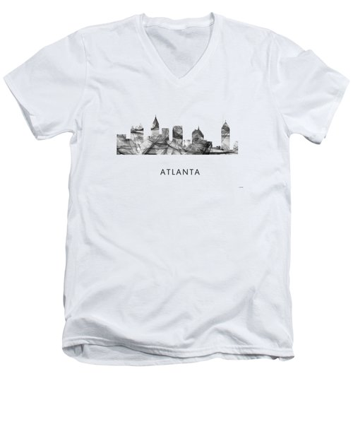 Atlanta Georgia Skyline Men's V-Neck T-Shirt