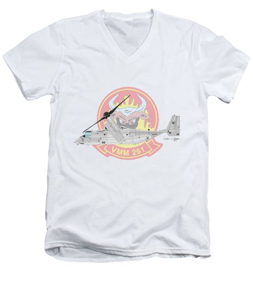 Bell Boeing Mv-22b Osprey Men's V-Neck T-Shirt