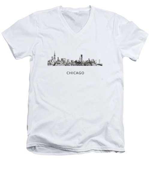 Chicago Illinois Skyline Men's V-Neck T-Shirt