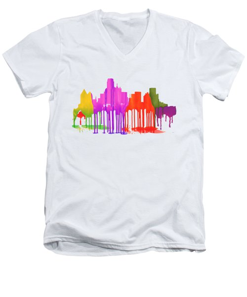 Dallas Texas Skyline Men's V-Neck T-Shirt