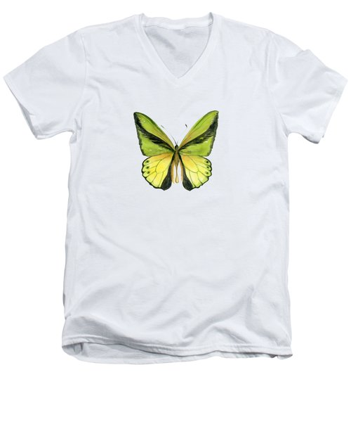 8 Goliath Birdwing Butterfly Men's V-Neck T-Shirt
