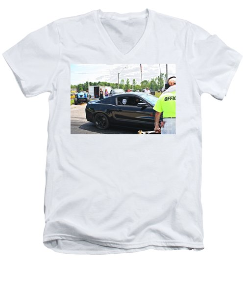 8628 06-15-2015 Esta Safety Park Men's V-Neck T-Shirt
