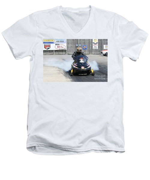 8763 06-15-2015 Esta Safety Park Men's V-Neck T-Shirt