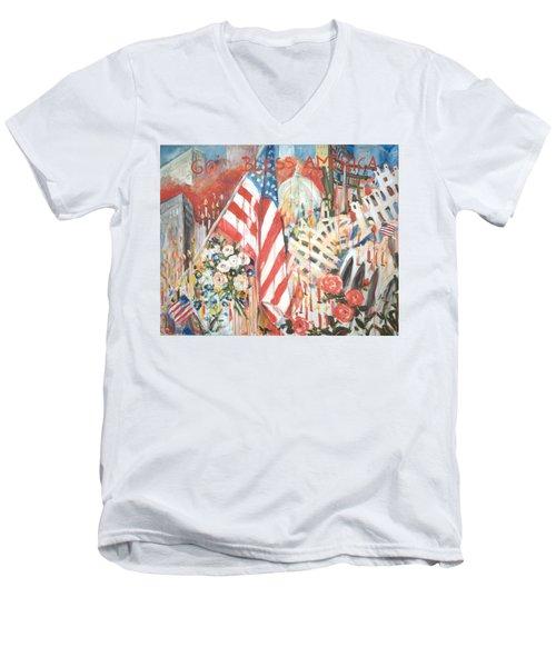 9-11 Attack Men's V-Neck T-Shirt