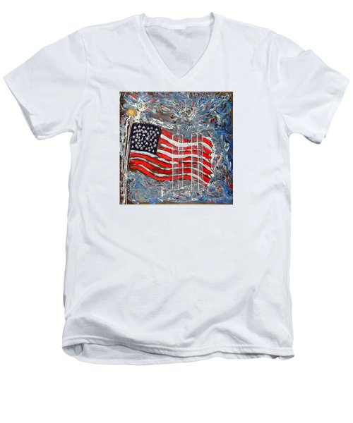 9/11 Tribute Men's V-Neck T-Shirt