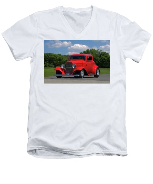 1932 Ford Coupe Hot Rod Men's V-Neck T-Shirt by Tim McCullough