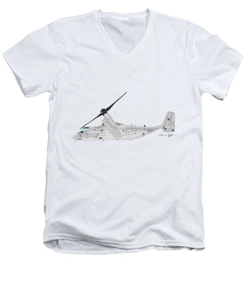 Bell-boeing Mv-22b Osprey Men's V-Neck T-Shirt