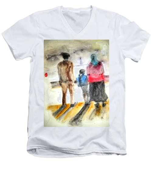 Italy The Red And Green Of It Album Men's V-Neck T-Shirt