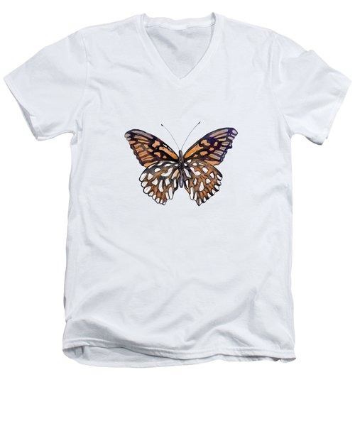 9 Mexican Silver Spot Butterfly Men's V-Neck T-Shirt