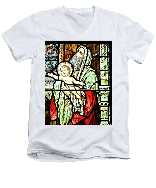 Saint Anne's Windows Men's V-Neck T-Shirt