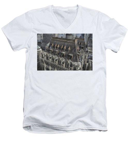 90 West - West Street Building Men's V-Neck T-Shirt by Dyle Warren