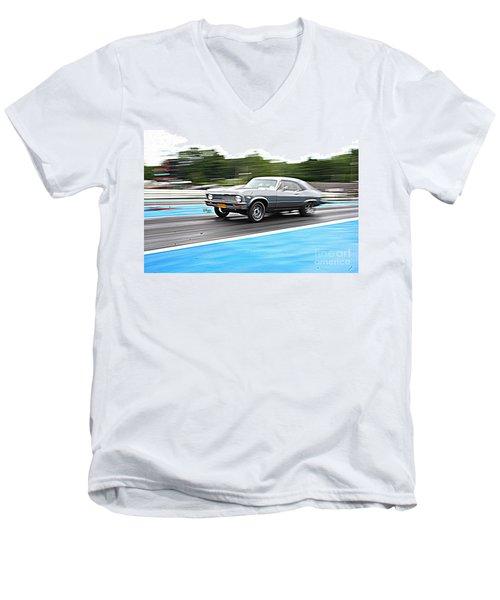 9030 06-15-2015 Esta Safety Park Men's V-Neck T-Shirt