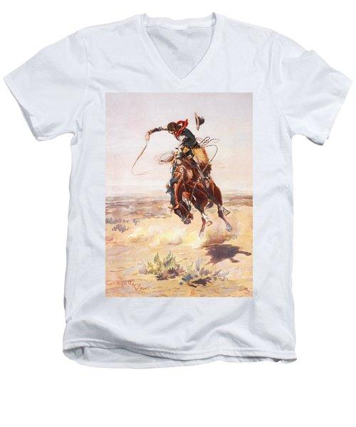 A Bad Hoss Men's V-Neck T-Shirt
