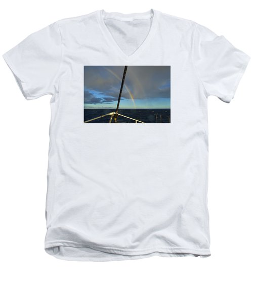 Men's V-Neck T-Shirt featuring the photograph A Beautiful Day by James McAdams