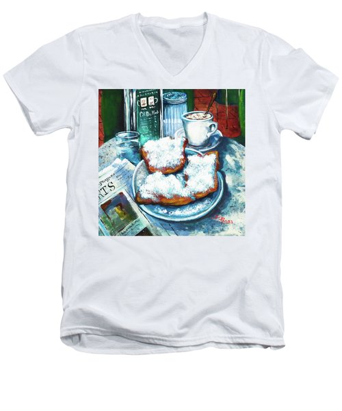 A Beignet Morning Men's V-Neck T-Shirt