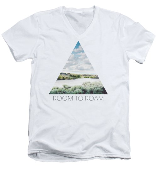 A Bend In The Yellowstone Men's V-Neck T-Shirt