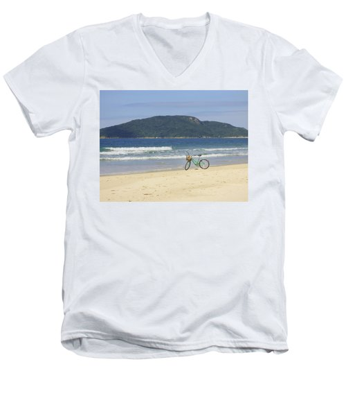 A Bike At The Beach Men's V-Neck T-Shirt