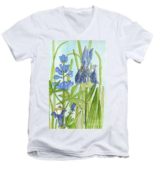 A Blue Garden Men's V-Neck T-Shirt