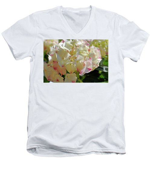 Men's V-Neck T-Shirt featuring the photograph A Blush Of Pink by Cricket Hackmann
