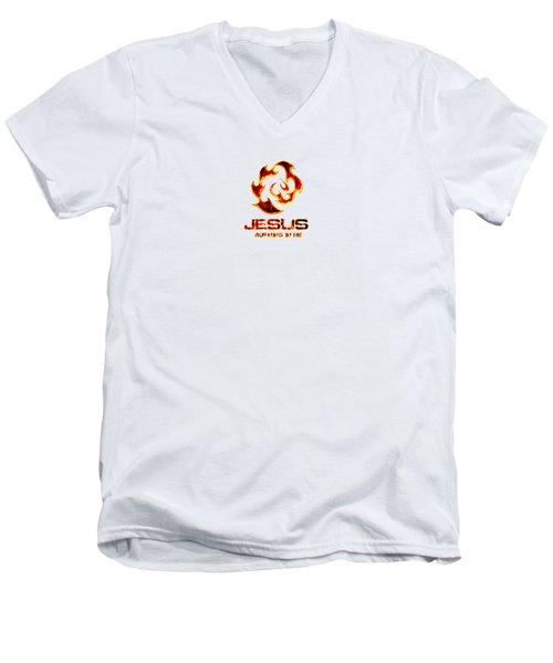A Burning Bush Men's V-Neck T-Shirt