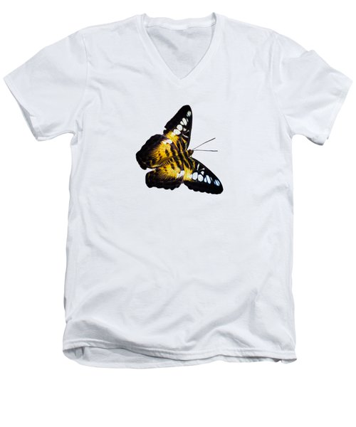 A Butterfly In The Forest Men's V-Neck T-Shirt