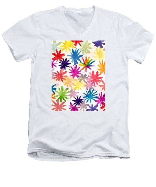Men's V-Neck T-Shirt featuring the photograph A Child's Creation #1 - Donation by Suri