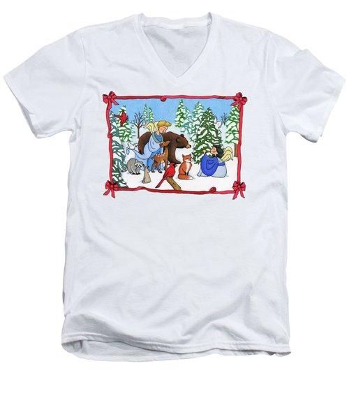 A Christmas Scene 2 Men's V-Neck T-Shirt