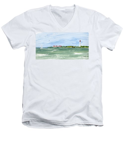 A Clear Day At Cape May Point  Men's V-Neck T-Shirt