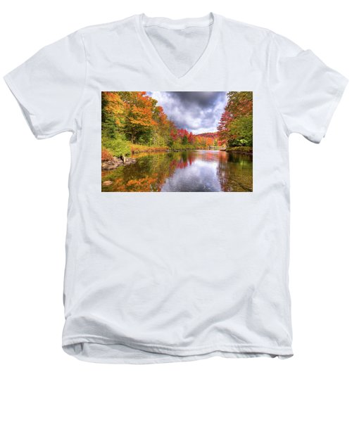 A Cloudy Autumn Day Men's V-Neck T-Shirt by David Patterson