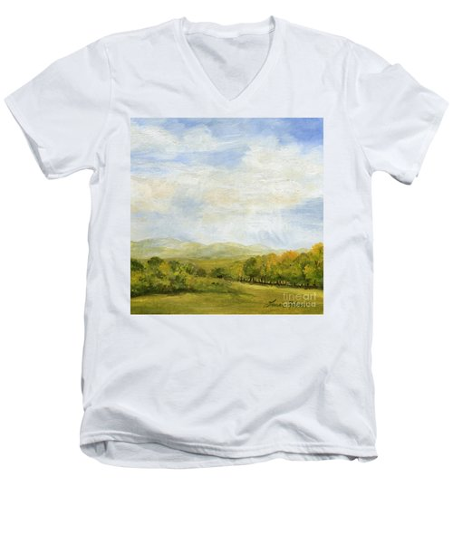 A Day In Autumn Men's V-Neck T-Shirt