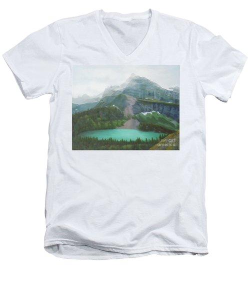 A Day In Glacier National Park Men's V-Neck T-Shirt