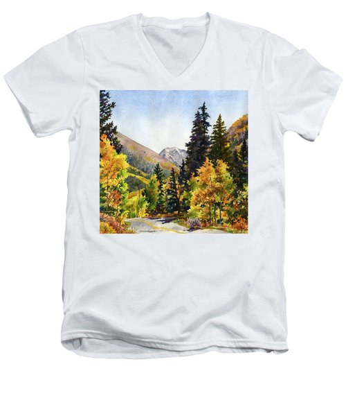 A Drive In The Mountains Men's V-Neck T-Shirt by Anne Gifford