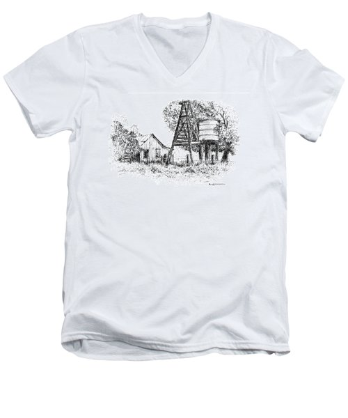 A Farm In Schroeder Men's V-Neck T-Shirt