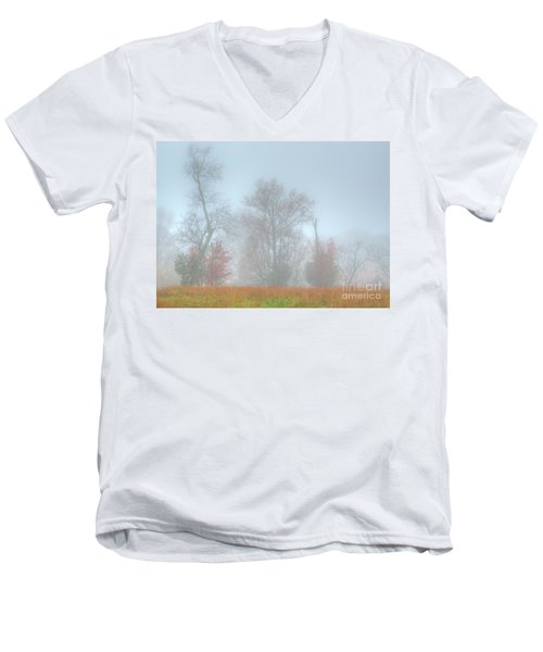 A Foggy Morning Men's V-Neck T-Shirt